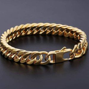 Heavy Mens Gold Bracelet Chain 10'
